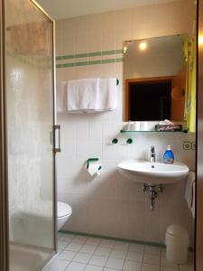 A bathroom at zur Dorfmühle
