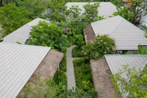 Blick auf La Rivière d' Angkor Resort aus der Vogelperspektive
