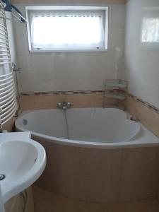 A bathroom at Franz Berg Apartman