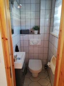 """A bathroom at """"Haus am Wald"""" in Possneck/Thuringen"""