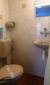 A bathroom at The Tinkov house in Lovech