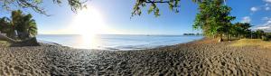 Uma praia perto da hospedagem domiciliar