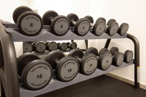The fitness center and/or fitness facilities at Gioberti Art Hotel