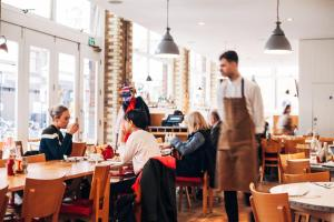A restaurant or other place to eat at Boundary London