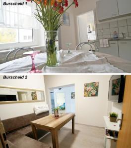 Küche/Küchenzeile in der Unterkunft Ferienwohnung Burscheid
