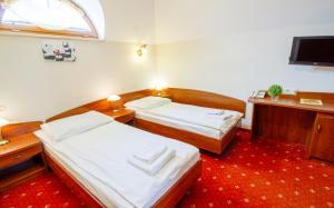 Łóżko lub łóżka w pokoju w obiekcie Hotel Stary Młyn