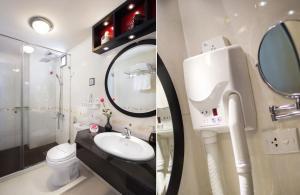 A bathroom at Hanoian Central Hotel & Spa