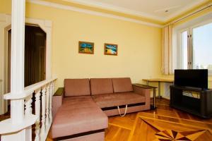 Гостиная зона в Апартаменты на Пролетарской для 6 гостей