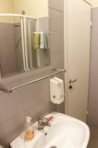 A bathroom at Fabrika Hostel Vilnius