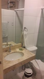 A bathroom at Premium Hotel