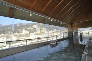 The swimming pool at or near Aburaya Tousen
