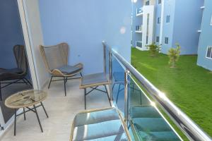 A balcony or terrace at SWEET DREAM