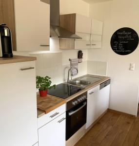 A kitchen or kitchenette at Ferienwohnung Drachennest