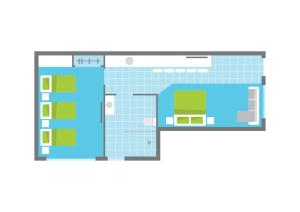 The floor plan of Bright Colonial Motel