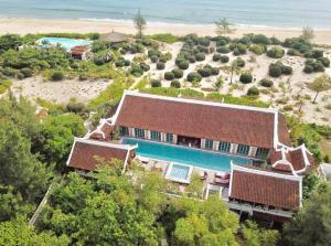 A bird's-eye view of Villa Louise Hue Beach Boutique Hotel