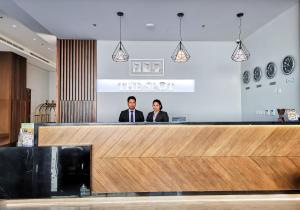 The lobby or reception area at The Spot Residence