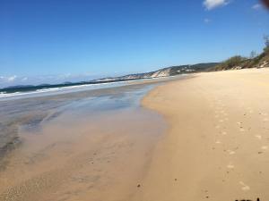 A beach at or near the homestay