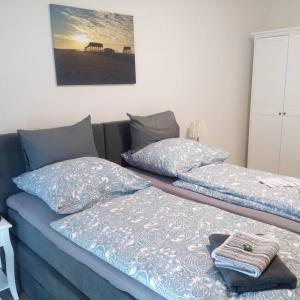 Ein Bett oder Betten in einem Zimmer der Unterkunft Seminarhaus an der Eider
