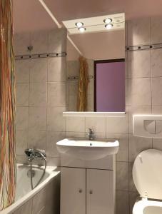 Koupelna v ubytování Penzion nad Halou