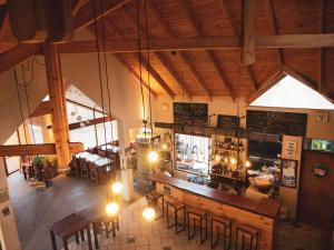 La sala de estar o bar de America Del Sur Calafate Hostel