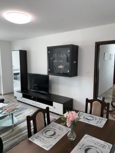 Televízia a/alebo spoločenská miestnosť v ubytovaní Apartament TT10 Botanicka