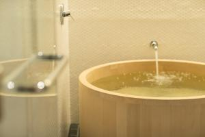 A bathroom at Hotel Kanra Kyoto