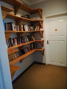 The library in the guest house