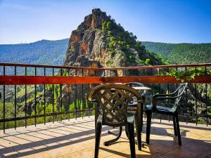 A balcony or terrace at Hotel Felipe II