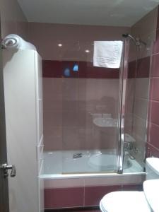 A bathroom at Hostal Consejo de Aranda