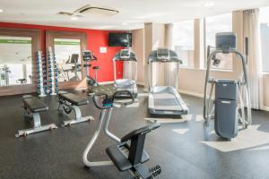 The fitness centre and/or fitness facilities at Hampton by Hilton Birmingham Broad Street