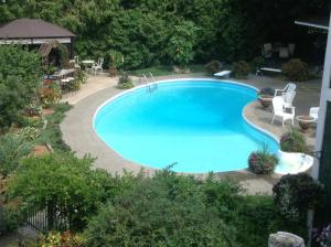 A view of the pool at Vinifera, The Inn on Winery Row or nearby