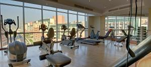The fitness center and/or fitness facilities at Chelsea Gardens Hotel Apartment
