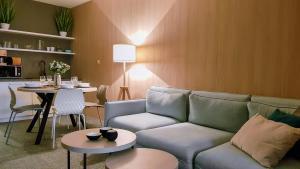 A seating area at Apartman Pod Hrebienkom - C218