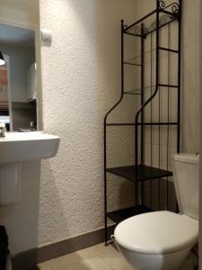 A bathroom at Welch