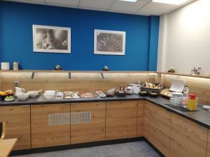 Küche/Küchenzeile in der Unterkunft Boardingroom
