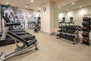 The fitness center and/or fitness facilities at SpringHill Suites Seattle Downtown