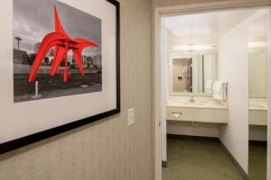 A bathroom at SpringHill Suites Seattle Downtown
