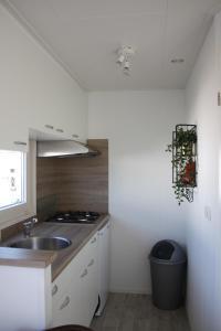 Een keuken of kitchenette bij Chalet Charlee