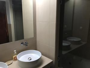 A bathroom at Salgados Beach
