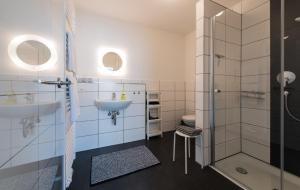 Ein Badezimmer in der Unterkunft Dillinger Schwabennest