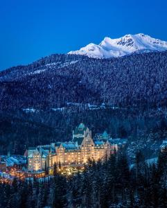 Fairmont Chateau Whistler during the winter
