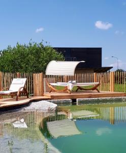 Der Swimmingpool an oder in der Nähe von Hotel der Freiraum