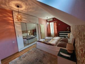 Кровать или кровати в номере Hotel Bagineti