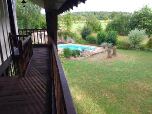 The swimming pool at or near Le Domaine du Moulin Foulon