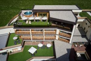 A bird's-eye view of Hotel Sassongher