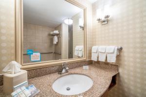 A bathroom at Hilton Garden Inn Morgantown