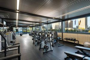 The fitness centre and/or fitness facilities at Hilton Adelaide