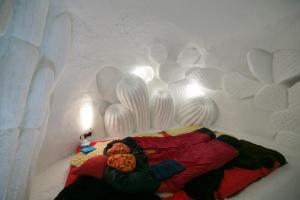 Een bed of bedden in een kamer bij Iglu-Dorf Kühtai