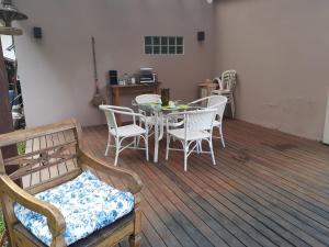 A seating area at Loft Aconchego da Serra