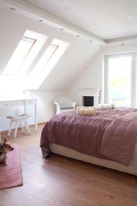 Postel nebo postele na pokoji v ubytování Green Buda Valley: Holiday home with garden